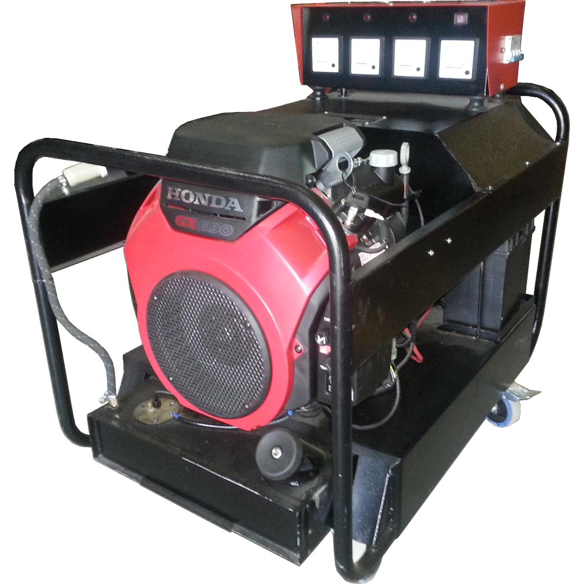 Generador 15 KVA trifásico 380 V con motor Honda 27 HP
